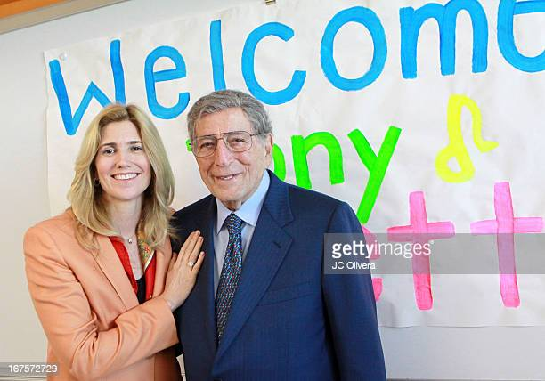 Singer Tony Bennett and wife Susan Benedetto tour Esteban E Torres high school campus in support of LA expansion of exploring the arts at Esteban E...