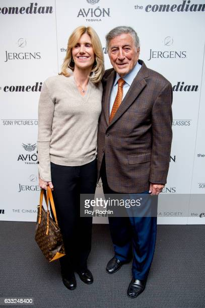 Singer Tony Bennett and wife Susan Crow attend a Screening Of Sony Pictures Classics' The Comedian at Museum of Modern Art on January 31 2017 in New...