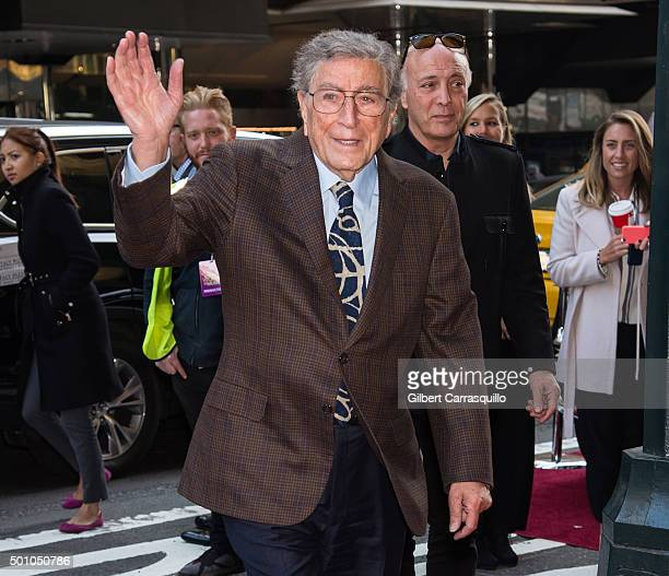 Singer Tony Bennett attends Billboard's 10th Annual Women In Music at Cipriani 42nd Street on December 11, 2015 in New York City.
