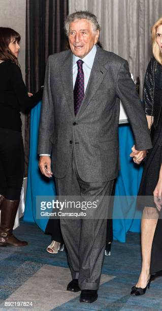 Singer Tony Bennett attends Robert F Kennedy Human Rights Hosts Annual Ripple Of Hope Awards Dinner at New York Hilton on December 13 2017 in New...