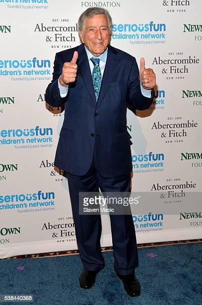 Singer Tony Bennett attends SeriousFun Children's Network 2016 NYC Gala Arrivals on June 6 2016 in New York City