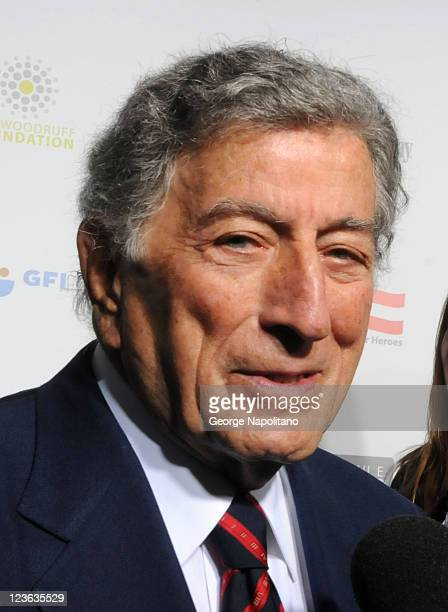 Singer Tony Bennett attends Stand Up For Heroes presented by the New York Comedy Festival and the Bob Woodruff Foundation at The Beacon Theatre on...