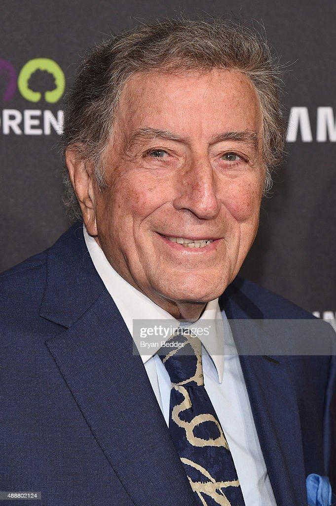 Singer Tony Bennett attends the Samsung Hope for Children Gala 2015 at Hammerstein Ballroom on September 17, 2015 in New York City.