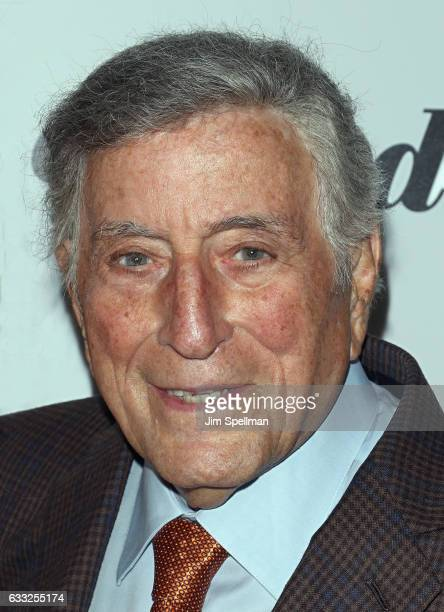 Singer Tony Bennett attends the screening of Sony Pictures Classics' The Comedian hosted by The Cinema Society with Avion and Jergens at Museum of...