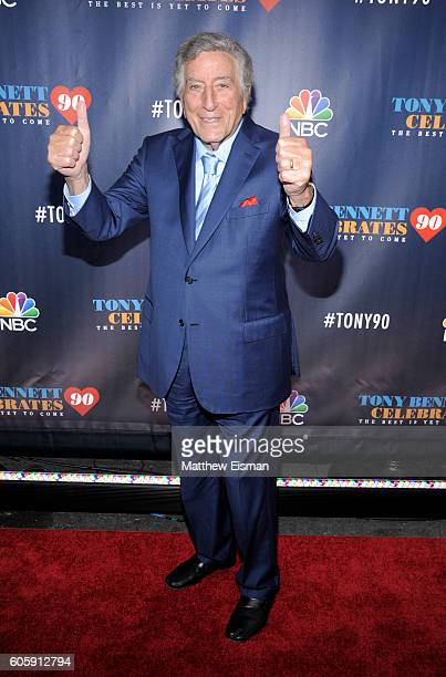 Singer Tony Bennett attends 'Tony Bennett Celebrates 90: The Best Is Yet To Come' at Radio City Music Hall on September 15, 2016 in New York City.
