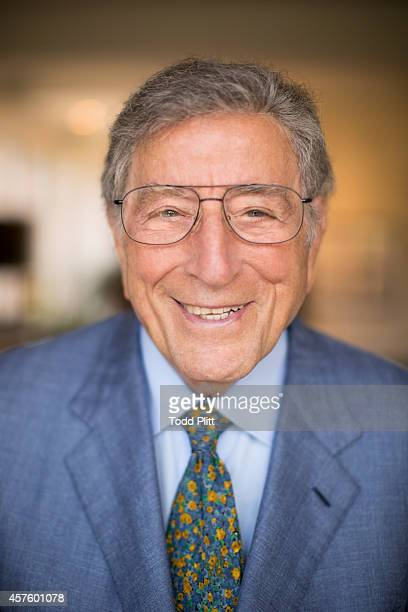 Singer Tony Bennett is photographed for USA Today on August 21 2014 in New York City