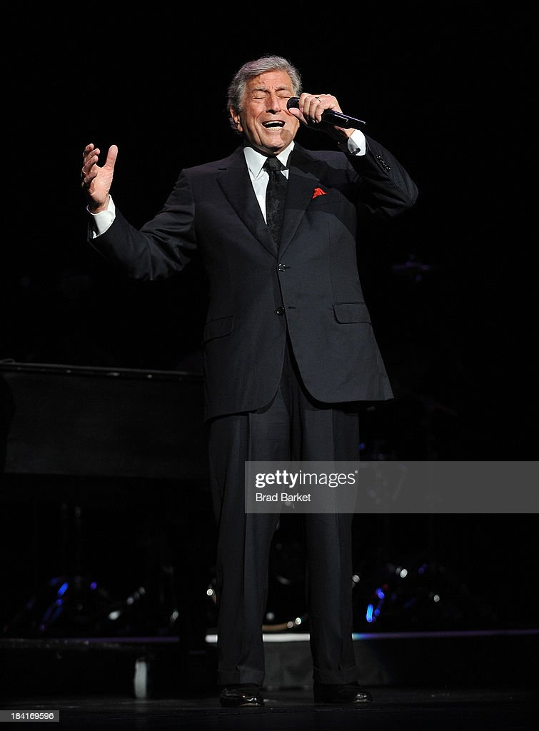 Singer Tony Bennett performs at Radio City Music Hall on October 11, 2013 in New York City.
