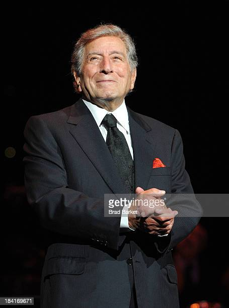 Singer Tony Bennett performs at Radio City Music Hall on October 11 2013 in New York City