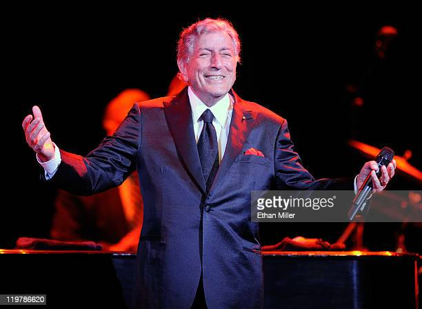 Singer Tony Bennett performs at The Pearl concert theater at the Palms Casino Resort July 24 2011 in Las Vegas Nevada Bennett will release the new...