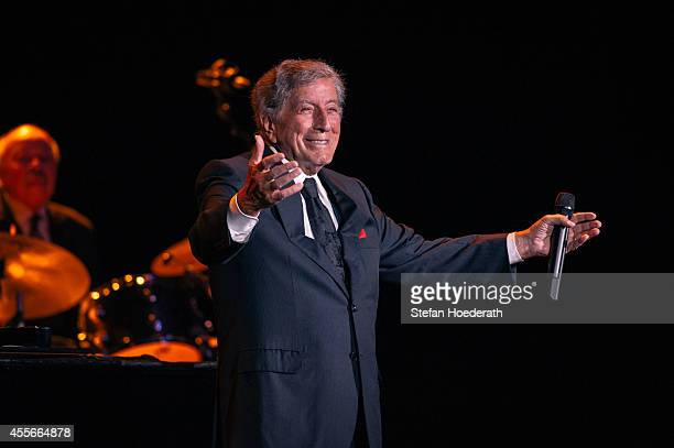 Singer Tony Bennett performs live on stage during a concert at Admiralspalast on September 18 2014 in Berlin Germany