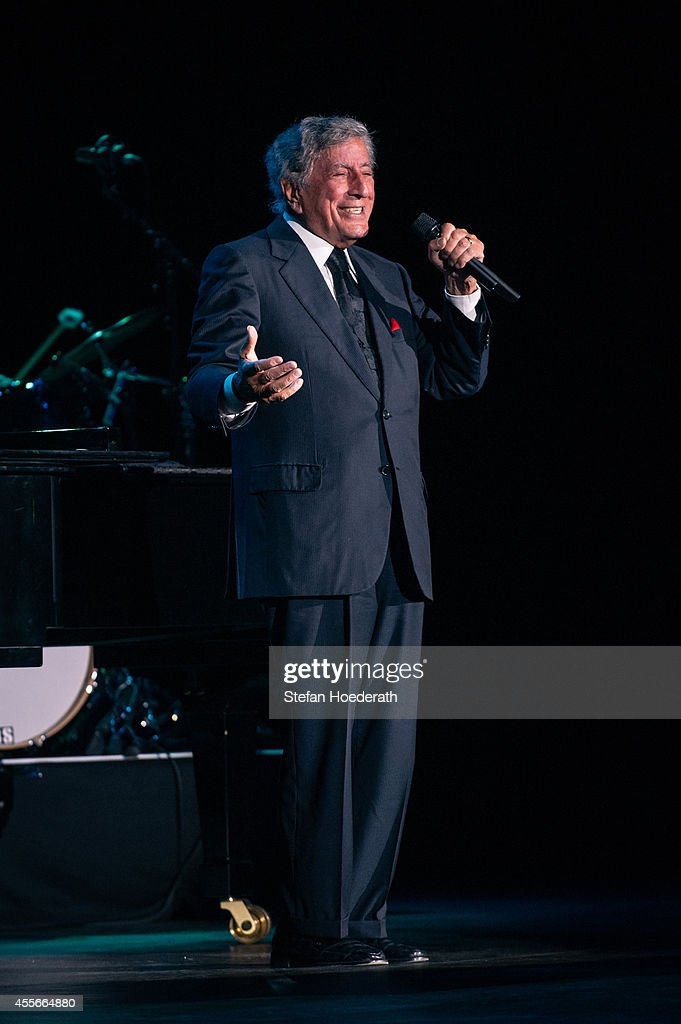 Singer Tony Bennett performs live on stage during a concert at Admiralspalast on September 18, 2014 in Berlin, Germany.