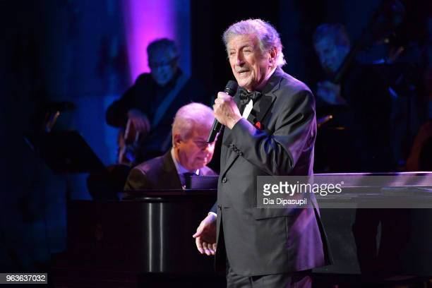 Singer Tony Bennett performs onstage during Lincoln Center's American Songbook Gala at Alice Tully Hall on May 29 2018 in New York City