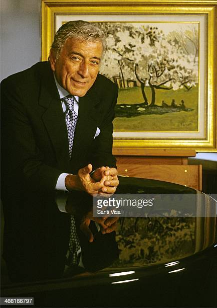 Singer Tony Bennett posing for a portrait on May 101996 in New York New York
