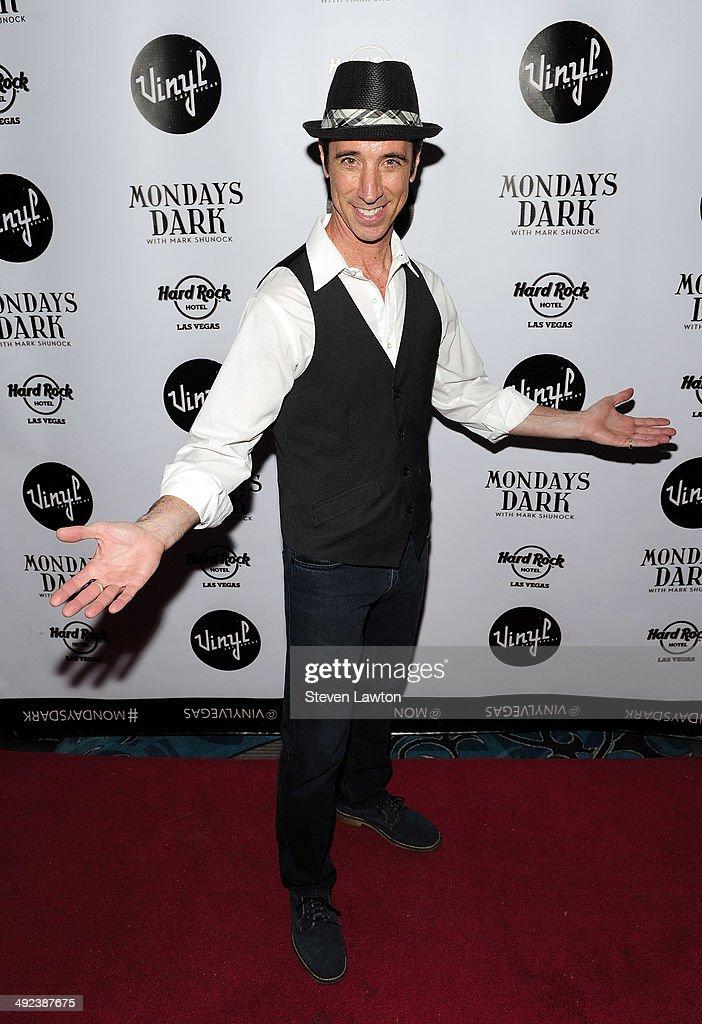 Singer Tony Felicetta arrives at 'Mondays Dark With Mark Shunock' benefiting the NF Network at Vinyl inside the Hard Rock Hotel & Casino on May 19, 2014 in Las Vegas, Nevada.