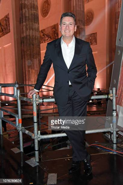 Singer Tony Hadley of the band Spandau Ballet during the ZDF TV Show 'Willkommen 2019' - New Years Eve Party at Brandenburg Gate on December 31, 2018...