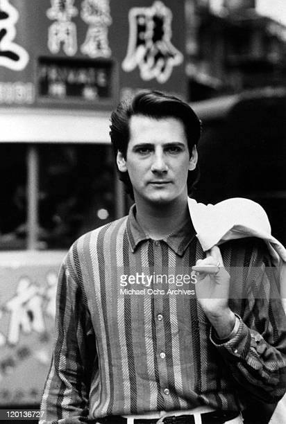 Singer Tony Hadley of the pop band 'Spandau Ballet' poses for a portait in 1985 in New York City New York