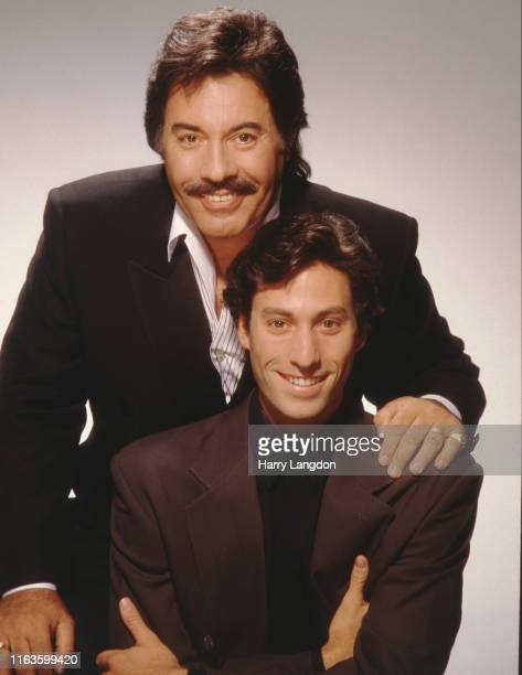 Singer Tony Orlando and son Ron poses for a portrait in 1993 in Los Angeles California
