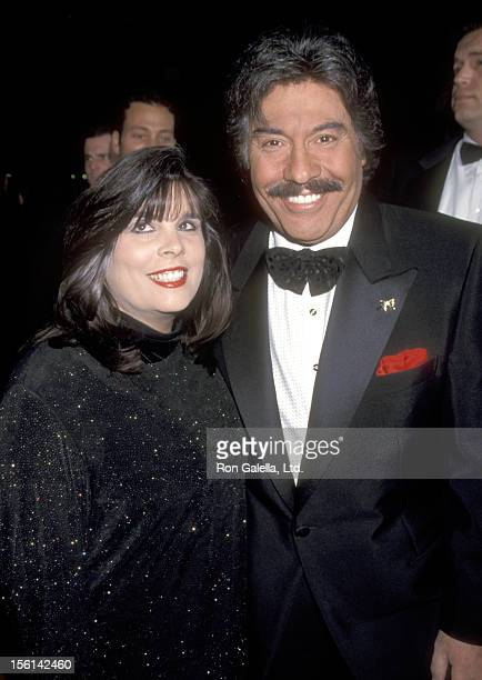 Singer Tony Orlando and wife Francine Amormino attend the 25th Annual People's Choice Awards on January 10 1999 at Pasadena Civic Auditorium in...