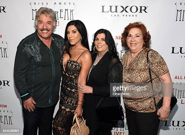 Singer Tony Orlando his daugher Jenny Orlando his wife Francine Orlando and television personality Concetta Aunt Chippy Potenza attend the world...