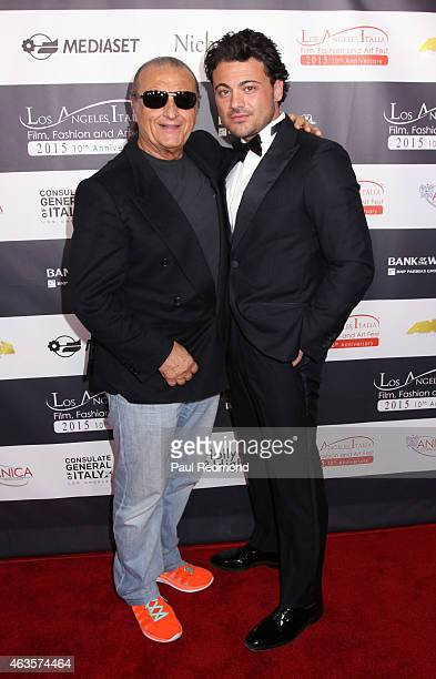 Singer Tony Renis and actor Vittorio Grigolo attend Los Angeles Italia Opening Gala at TCL Chinese 6 Theatres on February 15 2015 in Hollywood...