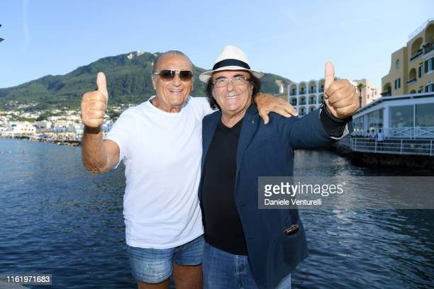Singer Tony Renis and Al Bano attend 2019 Ischia Global Film Music Fest on July 14 2019 in Ischia Italy