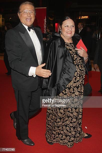 Singer Tony Renis and wife Elettra Morini attend the opening ceremony concert held at Teatro Sistina on day 1 of the 2nd Rome Film Festival on...