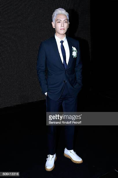 Singer TOP attends the Dior Homme Menswear Fall/Winter 20162017 show as part of Paris Fashion Week on January 23 2016 in Paris France