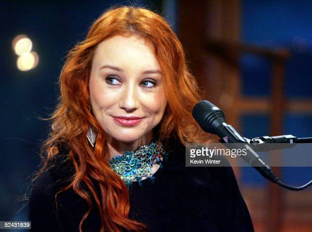 Singer Tori Amos appears at The Late Late Show with Craig Ferguson at CBS Television City on March 15 2005 in Los Angeles California