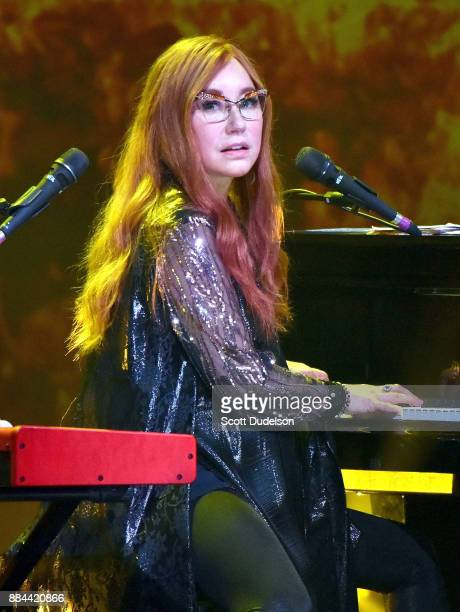 Singer Tori Amos performs onstage during the 'Native Invader' album tour at The Theatre at Ace Hotel on December 1 2017 in Los Angeles California