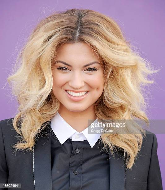 Singer Tori Kelly arrives at the 48th Annual Academy Of Country Music Awards at MGM Grand Garden Arena on April 7 2013 in Las Vegas Nevada