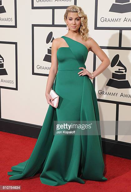 Singer Tori Kelly arrives at The 58th GRAMMY Awards at Staples Center on February 15 2016 in Los Angeles California