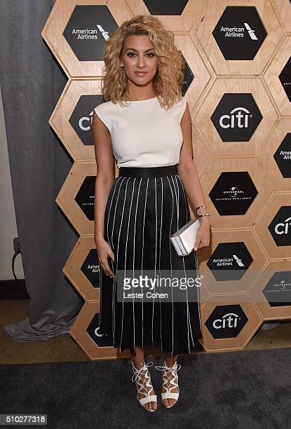 Singer Tori Kelly attends Lucian Grainge's 2016 Artist Showcase Presented by American Airlines and Citi at The Theatre at Ace Hotel Downtown LA on...