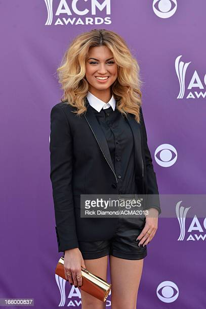 Singer Tori Kelly attends the 48th Annual Academy of Country Music Awards at the MGM Grand Garden Arena on April 7 2013 in Las Vegas Nevada