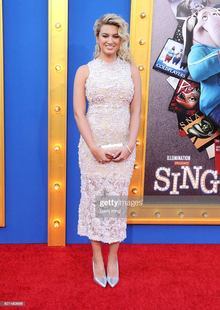 Singer Tori Kelly attends the premiere of Universal Pictures' 'Sing' at Microsoft Theater on December 3, 2016 in Los Angeles, California.