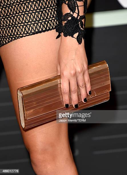 Singer Tori Kelly fashion detail attends the 2015 MTV Video Music Awards at Microsoft Theater on August 30 2015 in Los Angeles California