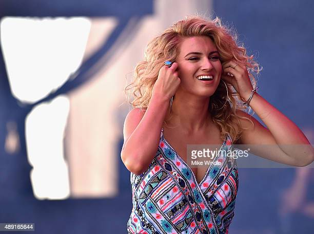 Singer Tori Kelly performs onstage at The Daytime Village during the 2015 iHeartRadio Music Festival at the Las Vegas Village on September 19 2015 in...