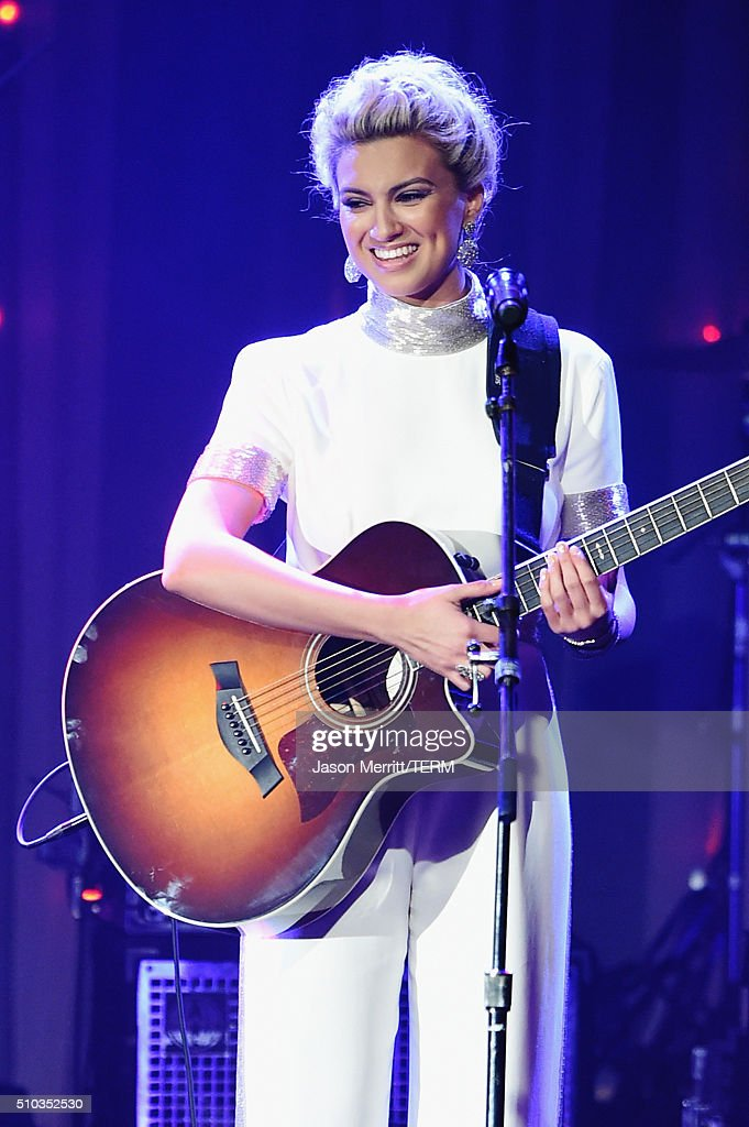 Singer Tori Kelly performs onstage during the 2016 Pre-GRAMMY Gala and Salute to Industry Icons honoring Irving Azoff at The Beverly Hilton Hotel on February 14, 2016 in Beverly Hills, California.