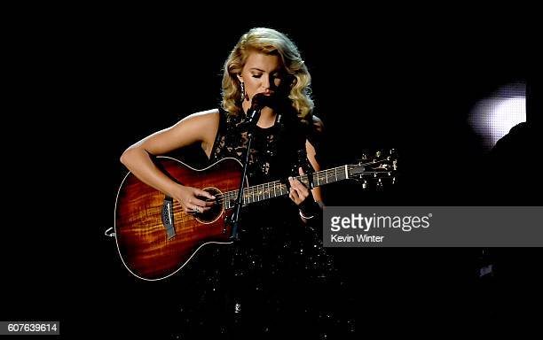 Singer Tori Kelly performs onstage during the 68th Annual Primetime Emmy Awards at Microsoft Theater on September 18 2016 in Los Angeles California