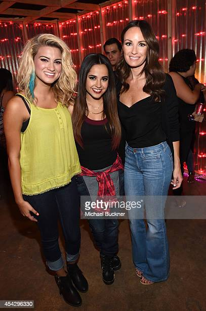 Singer Tori Kelly TV personality Catt Sadler and Singer Becky G attend a VIP event hotsted by ARIZONA JEAN CO in Los Angeles with Tori Kelly and...