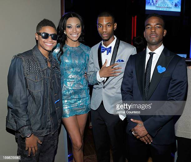 Singer Torion Sellers Bianca Golden actor Jermaine Crawford and singer Luke James attend the 2013 HOPE Inaugural Youth Ball at the Howard Theatre on...