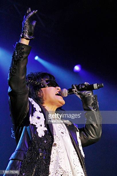 Singer Toshi of the band X Japan performs live during a concert at the Columbiahalle on July 4 2011 in Berlin Germany