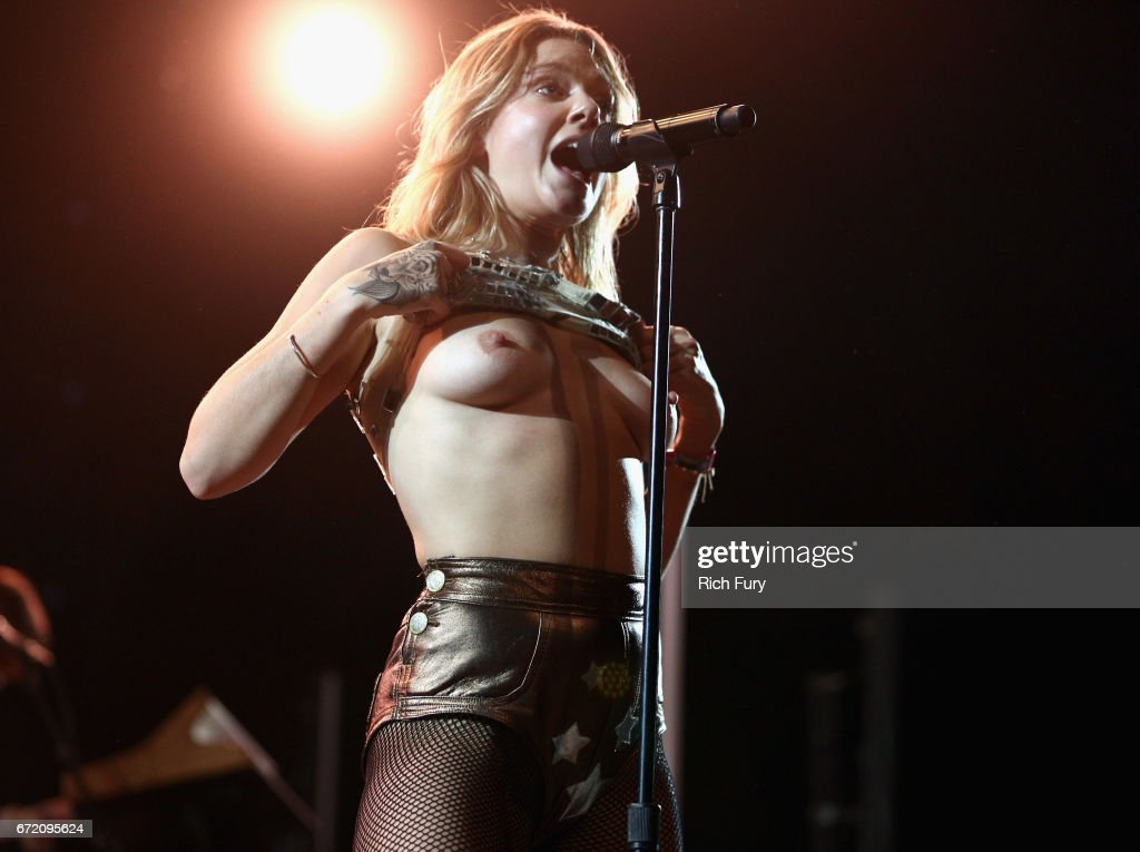Singer Tove Lo performs at the Mojave Tent during day 3 of the 2017 Coachella Valley Music & Arts Festival (Weekend 2) at the Empire Polo Club on April 23, 2017 in Indio, California.