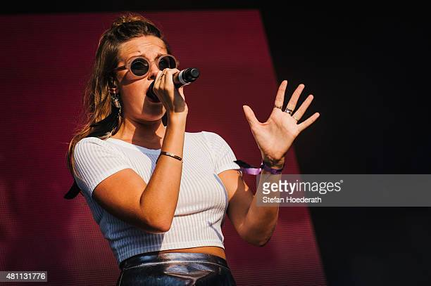 Singer Tove Lo performs live on stage during Day 1 of Melt Festival on July 17 2015 in Graefenhainichen Germany