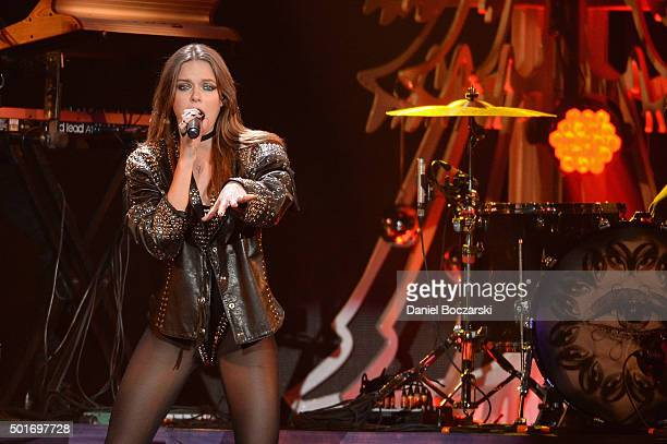 Singer Tove Lo performs onstage during 1035 KISS FM's Jingle Ball 2015 presented by Capital One at Allstate Arena on December 16 2015 in Chicago Ill