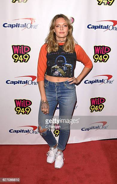 Singer Tove Lo poses in the press room during the WiLD 949 iHeartRadio Jingle Ball at SAP Center on December 1 2016 in San Jose California