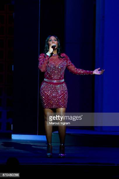 Singer Towanda Braxton performs onstage during Je'Caryous Johnson's 'Two Can Play That Game' stage play at Fox Theatre on November 4 2017 in Atlanta...