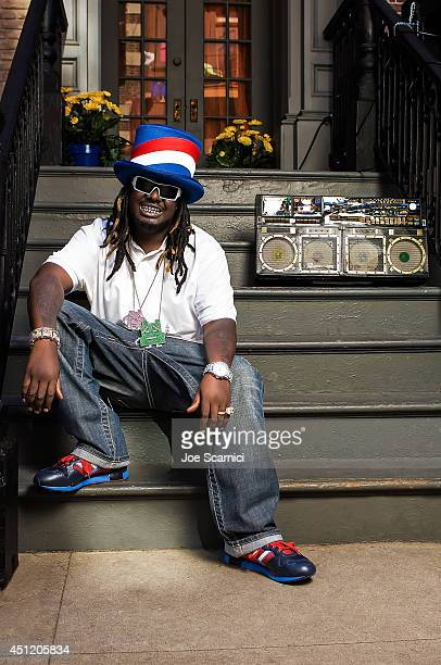 Singer TPain is photographed for Self Assignment on May 28 2008 in Los Angeles California