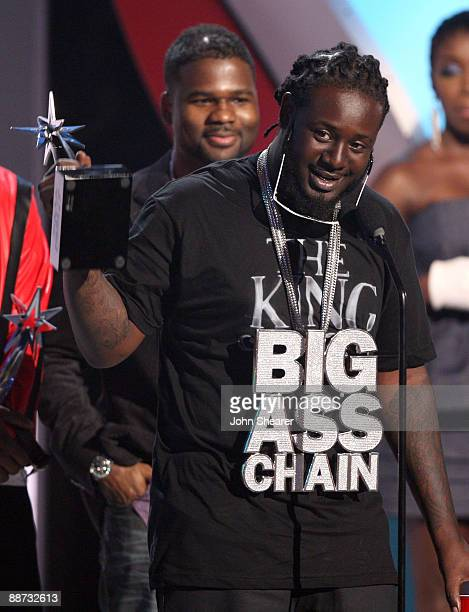 Singer TPain onstage at the 2009 BET Awards at the Shrine Auditorium on June 28 2009 in Los Angeles California