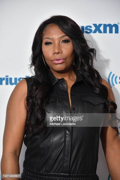Singer Traci Braxton visits SiriusXM Studios on August 22, 2018 in New York City.