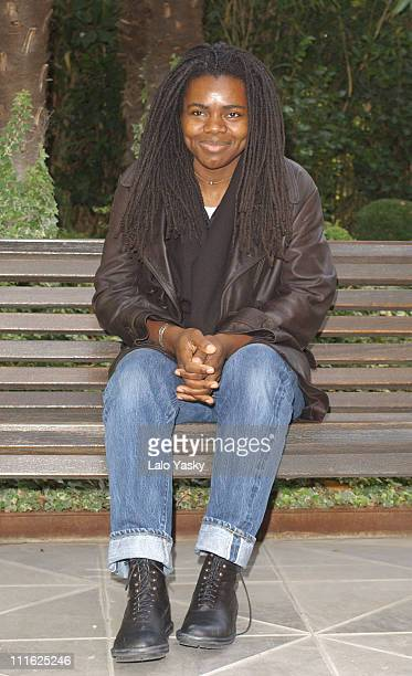 "Singer Tracy Chapman Attends a Promotional Photoshoot for her New Album ""Let It Rain"" at Santo Mauro Hotel in Central Madrid"